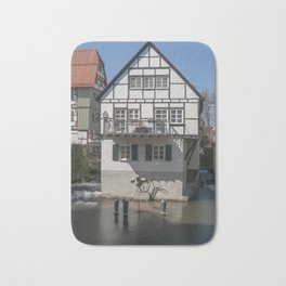 House in the water fisher quarter Ulm - Germany Bath Mat