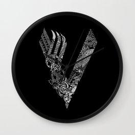 Black Vikings Wall Clock
