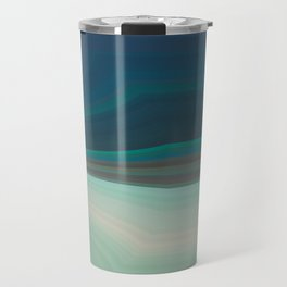 blue lines with a bend Travel Mug