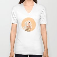 hollywood V-neck T-shirts featuring Hollywood by Erica_art