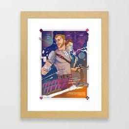 GALACTIC GAMBLE Framed Art Print