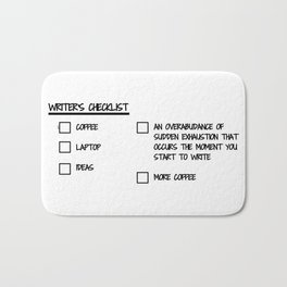 Writer's Checklist Bath Mat