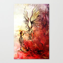 Syrian mom, a mother of angels Canvas Print