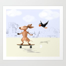 Can you keep up with me? Art Print