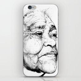 """Gabriela"" of the Kaweskar People B+W iPhone Skin"