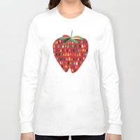 strawberry Long Sleeve T-shirts featuring Strawberry by Picomodi