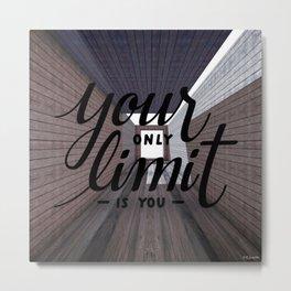 NO LIMITS Metal Print
