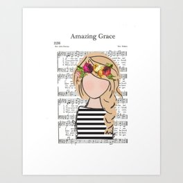 Amazing Grace - Blonde Braid Art Print