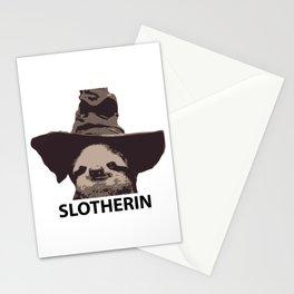 Slotherin (Slytherin + Sloth) Stationery Cards