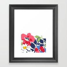 Flower draw Framed Art Print