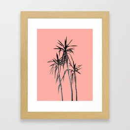 Palm Trees - Apricot Blush Cali Summer Vibes #1 #decor #art #society6 Framed Art Print