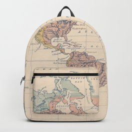 Vintage River Systems World Map (1852) Backpack