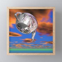 Is there any tea left? Framed Mini Art Print