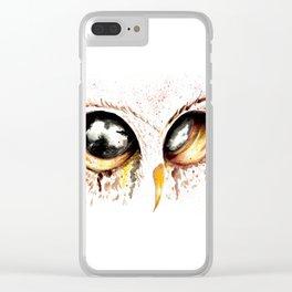 Bown owl eye Clear iPhone Case