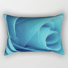 Cyan Rose Rectangular Pillow