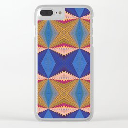 African Retro Geometric Bliss Print 1 Clear iPhone Case