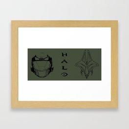Face-Off     Halo Framed Art Print