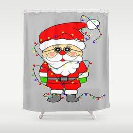 Silly Santa Shower Curtain