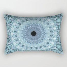 Mandala in cold winter tones Rectangular Pillow