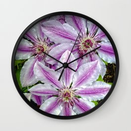 Clematis 2 Wall Clock