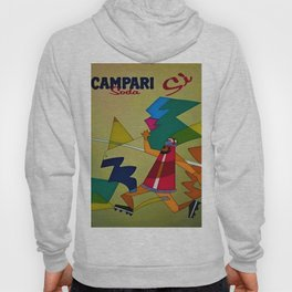 Vintage Italian Bitter Campari Lithograph Advertisement Poster Hoody