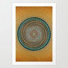 Mesh Mandala Art Print