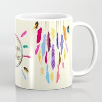 dreamcatcher Mugs featuring Dreamcatcher by O. Be