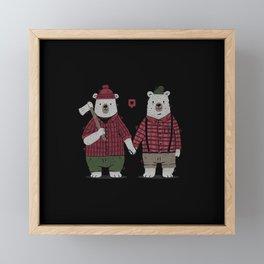 My Bear Valentine Framed Mini Art Print