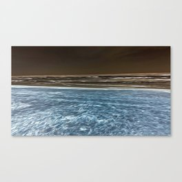 Negative Beach = Positive Vibe Canvas Print