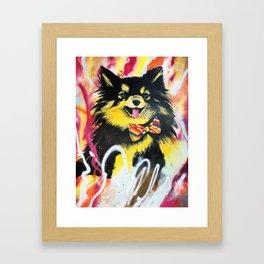 Pomeranian Pop Framed Art Print
