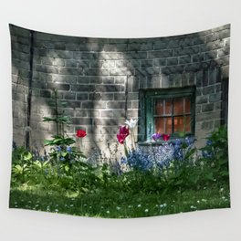 Early summer cottage Wall Tapestry