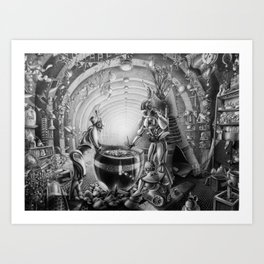 Temporary station Art Print