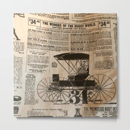 Old Vintage Advertising Part 3 Metal Print
