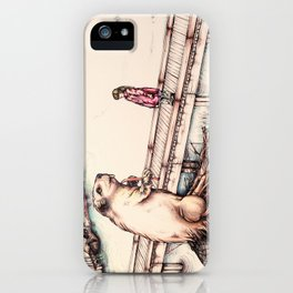 The Girl & The Beaver (or, Is It Alright if I Take Notes?) iPhone Case