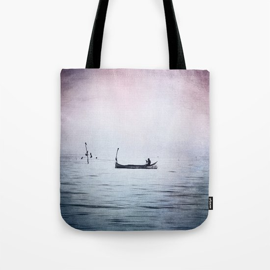 The Lonely Man and The Infinite Sea Color Version Tote Bag