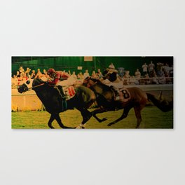Horse Race, For The Win... Canvas Print