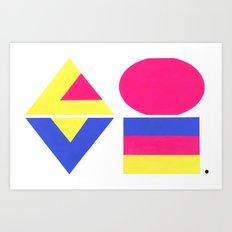 CMYK LOVE Art Print