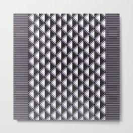 Mola Stripe Triangle Metal Print