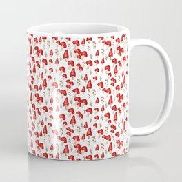 Red mushroom field Coffee Mug