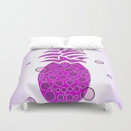 Pineapple In Purple Duvet Cover