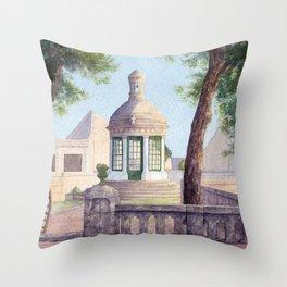 Tiny old mediterranean chapel Throw Pillow