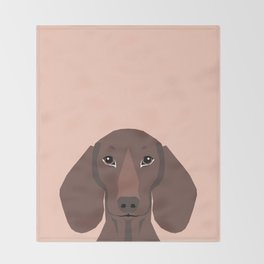 Remy - Daschund hipster dog, doxie, weiner dog, wiener dog,  Throw Blanket