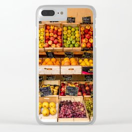 Groceries, Nice France Clear iPhone Case