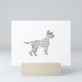Schnauzer doodle Mini Art Print