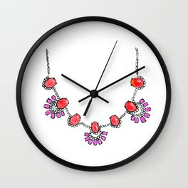 Bauble Bar Necklace Wall Clock