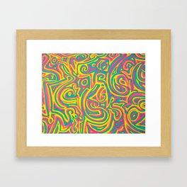 swirvled Framed Art Print