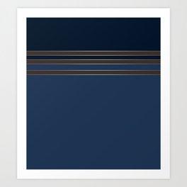 Dark blue combo pattern Art Print