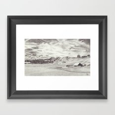 Out in the Hills Framed Art Print