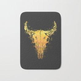 Dark Desert Cow Skull Bath Mat