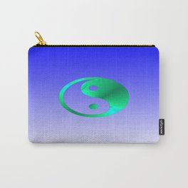 Peace to You (green and blue) Carry-All Pouch